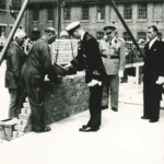 First stone laid by His Royal Highness Prince Albert of Belgium